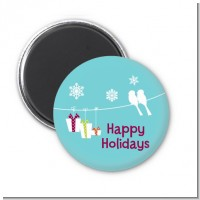 Happy Holidays on a String - Personalized Christmas Magnet Favors