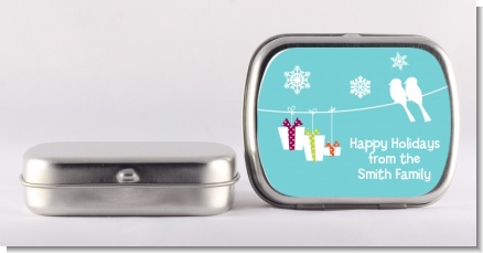 Happy Holidays on a String - Personalized Christmas Mint Tins