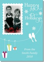Happy Holidays on a String - Personalized Photo Christmas Cards