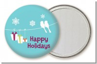 Happy Holidays on a String - Personalized Christmas Pocket Mirror Favors