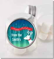 Happy Holidays Reindeer - Personalized Christmas Candy Jar