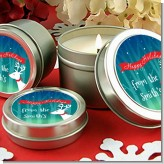 Happy Holidays Reindeer - Christmas Candle Favors