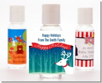 Happy Holidays Reindeer - Personalized Christmas Hand Sanitizers Favors