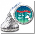 Happy Holidays Reindeer - Hershey Kiss Christmas Sticker Labels thumbnail