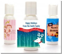 Happy Holidays Reindeer - Personalized Christmas Lotion Favors