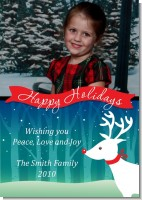 Happy Holidays Reindeer - Personalized Photo Christmas Cards