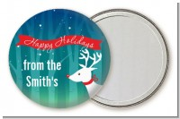 Happy Holidays Reindeer - Personalized Christmas Pocket Mirror Favors