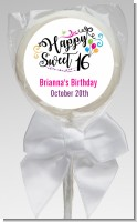 Happy Sweet 16 - Personalized Birthday Party Lollipop Favors
