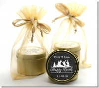 Happy Trails - Bridal Shower Gold Tin Candle Favors