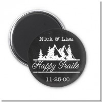 Happy Trails - Personalized Bridal Shower Magnet Favors