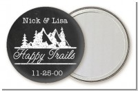 Happy Trails - Personalized Bridal Shower Pocket Mirror Favors