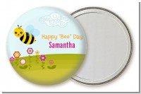 Happy Bee Day - Personalized Birthday Party Pocket Mirror Favors