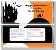 Haunted House - Personalized Halloween Candy Bar Wrappers thumbnail
