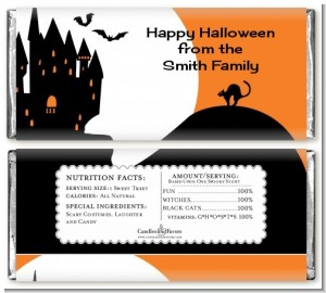 Haunted House - Personalized Halloween Candy Bar Wrappers