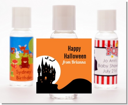 Haunted House - Personalized Halloween Hand Sanitizers Favors