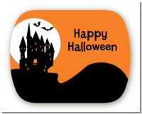 Haunted House - Personalized Halloween Rounded Corner Stickers
