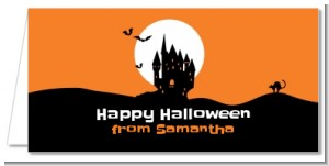 Haunted House - Personalized Halloween Place Cards