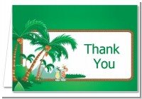 Hawaiian Luau - Bridal Shower Thank You Cards