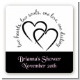 Hearts & Soul - Square Personalized Bridal Shower Sticker Labels thumbnail
