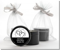 Hearts & Soul - Bridal Shower Black Candle Tin Favors
