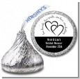 Hearts & Soul - Hershey Kiss Bridal Shower Sticker Labels thumbnail