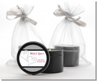 Hearts - Bridal Shower Black Candle Tin Favors