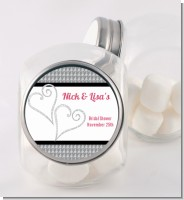 Hearts - Personalized Bridal Shower Candy Jar