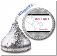 Hearts - Hershey Kiss Bridal Shower Sticker Labels thumbnail