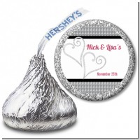Hearts - Hershey Kiss Bridal Shower Sticker Labels