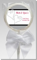 Hearts - Personalized Bridal Shower Lollipop Favors
