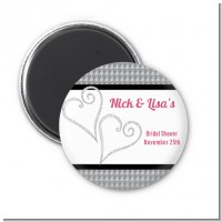 Hearts - Personalized Bridal Shower Magnet Favors