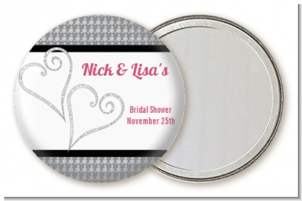 Hearts - Personalized Bridal Shower Pocket Mirror Favors
