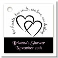 Hearts & Soul - Personalized Bridal Shower Card Stock Favor Tags thumbnail