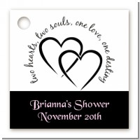 Hearts & Soul - Personalized Bridal Shower Card Stock Favor Tags