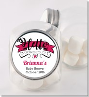 Hello Gorgeous - Personalized Baby Shower Candy Jar