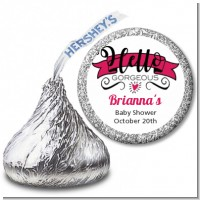 Hello Gorgeous - Hershey Kiss Baby Shower Sticker Labels