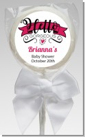 Hello Gorgeous - Personalized Baby Shower Lollipop Favors