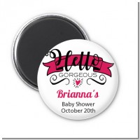 Hello Gorgeous - Personalized Baby Shower Magnet Favors