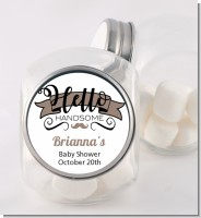 Hello Handsome - Personalized Baby Shower Candy Jar