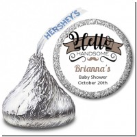 Hello Handsome - Hershey Kiss Baby Shower Sticker Labels