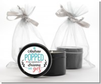 He Popped The Question - Bridal Shower Black Candle Tin Favors