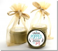 He Popped The Question - Bridal Shower Gold Tin Candle Favors