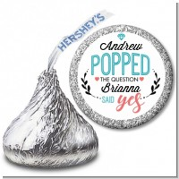 He Popped The Question - Hershey Kiss Bridal Shower Sticker Labels