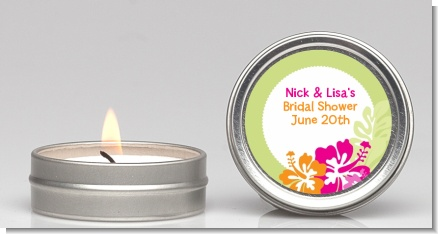 Hibiscus - Bridal Shower Candle Favors