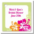 Hibiscus - Personalized Bridal Shower Card Stock Favor Tags thumbnail