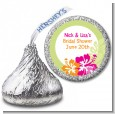 Hibiscus - Hershey Kiss Bridal Shower Sticker Labels thumbnail