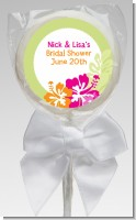 Hibiscus - Personalized Bridal Shower Lollipop Favors