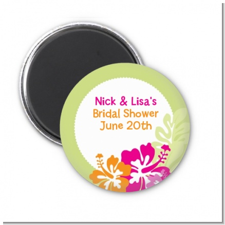 Hibiscus - Personalized Bridal Shower Magnet Favors