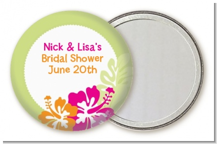 Hibiscus - Personalized Bridal Shower Pocket Mirror Favors