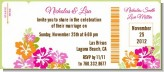 Hibiscus - Bridal | Wedding Destination Boarding Pass Invitations